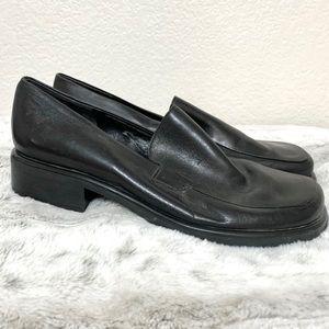 Vintage Franco Sarto Black Square Toe Chunky Shoes
